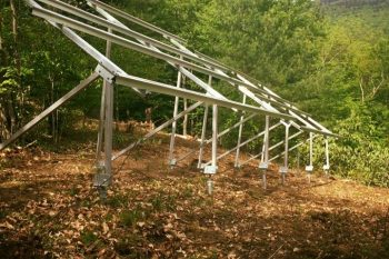 Helical Pier Piles Ground Mount Solar